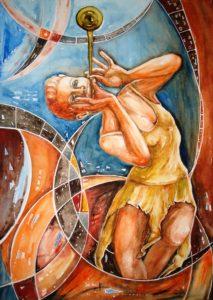 Die Hirtin Amaryllis durchbohrte ihr Herz aus Liebe zu ihrem für sie unerreichbaren Geliebten Alteo.